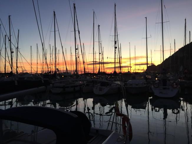 Noche en Port Ginesta